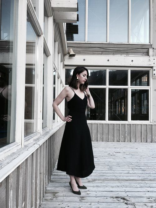We wore: Winter Wedding https://www.allyblog.com/home/winterwedding ally blog, Newfoundland, asos, aritzia, plunging neckline, fashion, ootd, blogger, strappy, open back, pleated, Long dress, midi