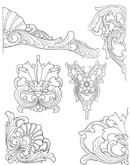 나무 조각 패턴 패턴 중국 공예.