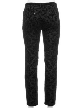 black brocade pants by Zerres - navabi.de plus size clothing