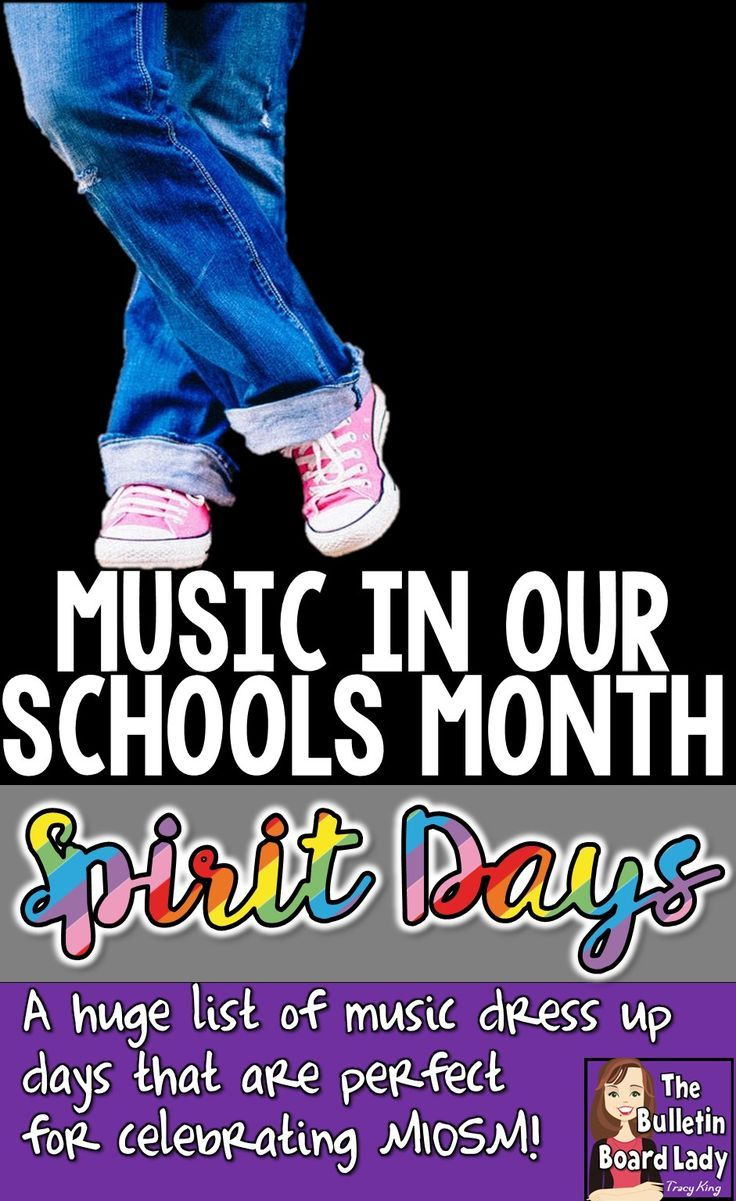Great ideas for dress up days or spirit days during Music In Our Schools Month.  Prepare for your MIOSM celebration with lots of fun ideas.