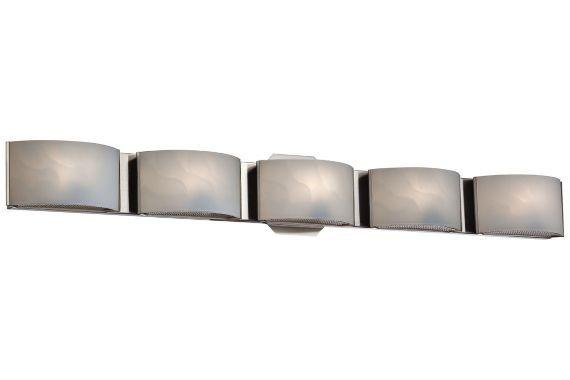 Eurofase Dakota Chrome 5-Light LED 33 1/2-Inch-W Bath Light