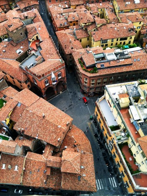 "Another view from the top of the Asinelli tower - ""Bologna, Italy – A Traveler's Triathalon"" by @SuuperG"