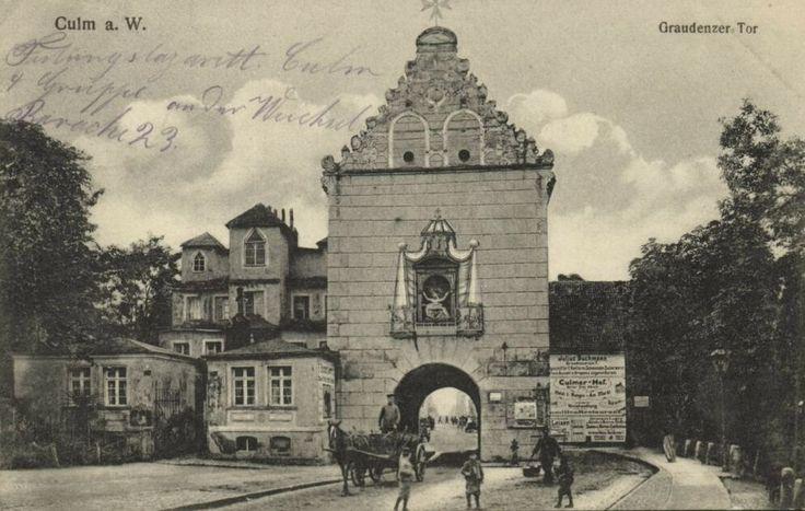 Brama Grudziądzka , Chełmno - 1914