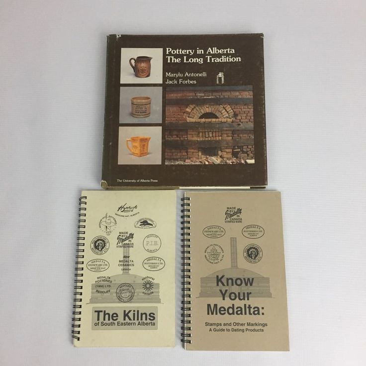Book Lot Pottery in Alberta The Kilns of South Eastern Alberta Know Your Medalta