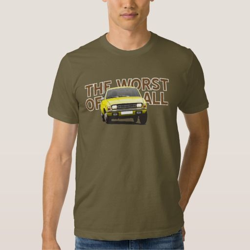 Austin Allegro - The worst of all  #austinallegro #allegro #austin #leyland #british #uk #automobile #car #tshirt #print #illtustration #zazzle #70s #classic #yellow