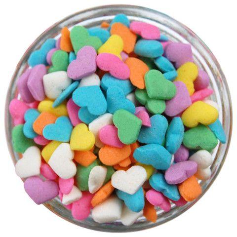 Pastel Heart Sprinkles | www.LayerCakeShop.com