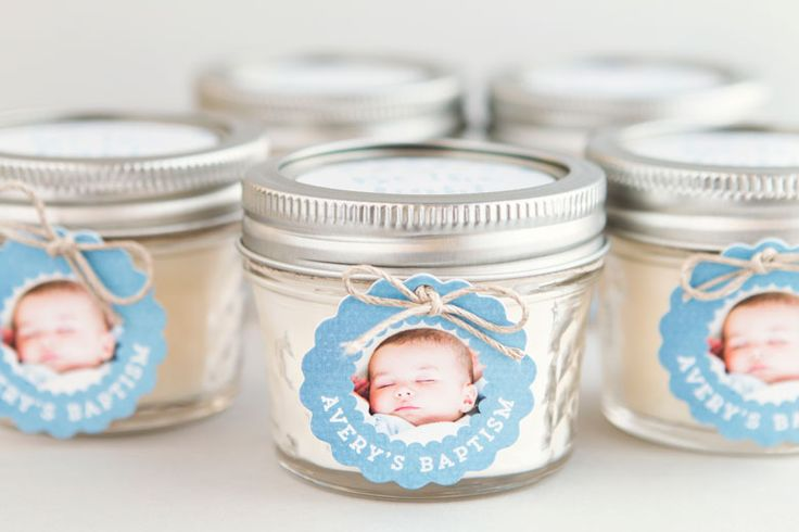 Baptism Favor Candles