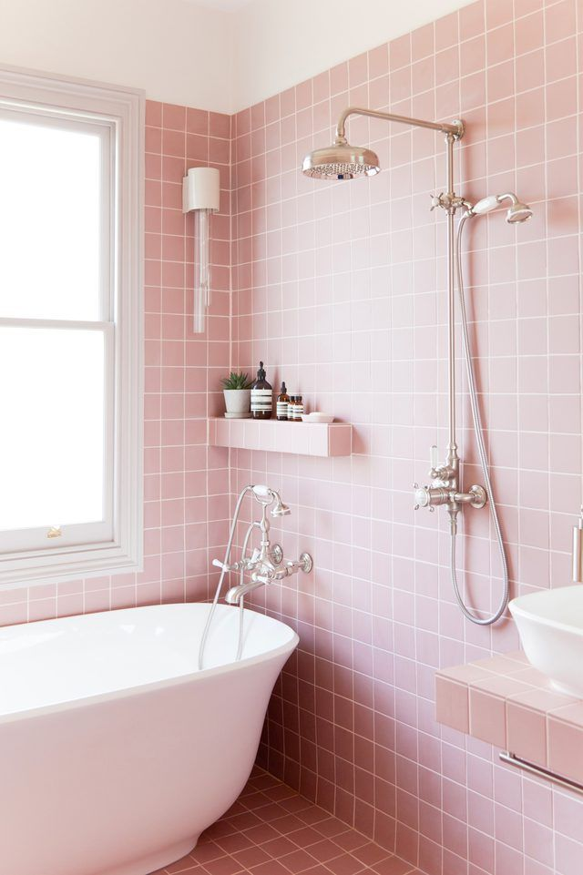 Granny Pink Tiles Are Back Baby Hunker Colorful Bathroom Tile Pink Bathroom Tiles Pink Bathroom