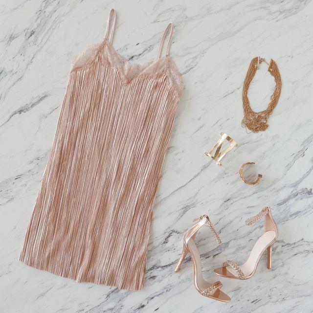 This piece has us blushing a little...   #gojane #dress #slip #slipdress #blush #rosegold #ootn