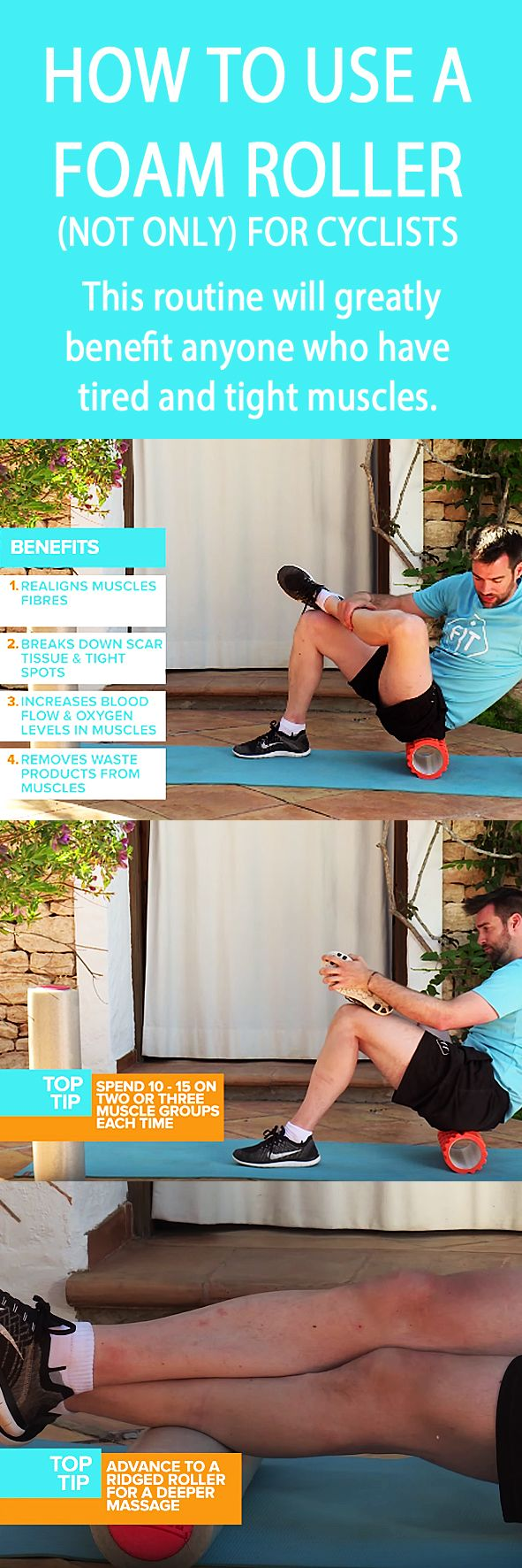.How to use a FOAM ROLLER (not only) for cyclists. #foamrolling #cyclingtips #tightmuscles #musclerecovery #tightmuscles