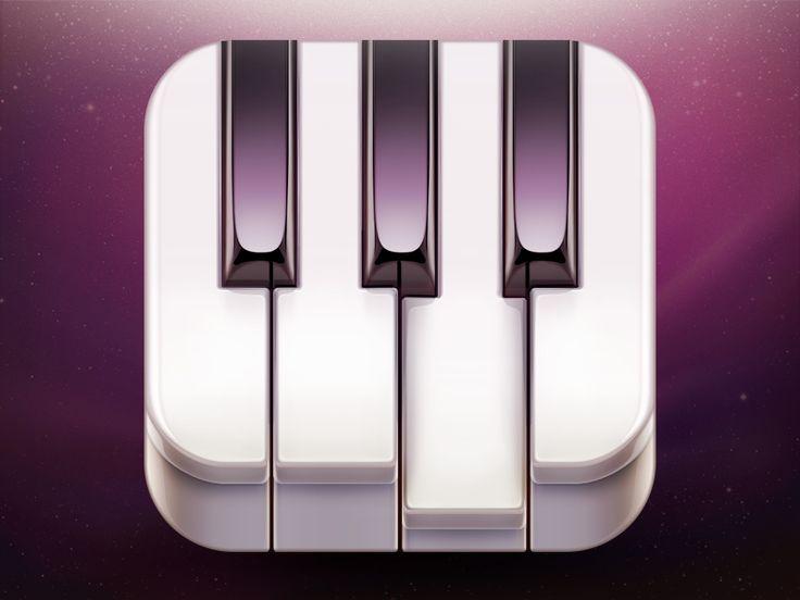 Go! Piano App Icon Design by Ramotion #icon #design #iOS #iPhone #iPad #app #piano #application #inspiration