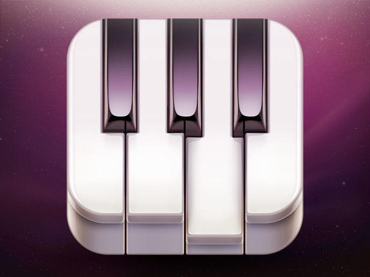 Go! Piano App Icon Design by Ramotion #icon #design #iOS #iPhone #iPad #app #piano #application #inspiration