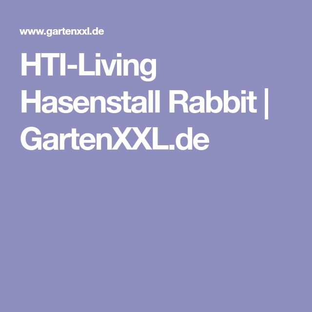 HTI-Living Hasenstall Rabbit   GartenXXL.de