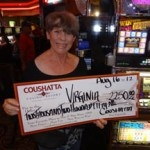 Congratulations to Virginia from Texas––on August 16 she won $2,250 playing a Slotto 3x-4x-5x Pay slot game!