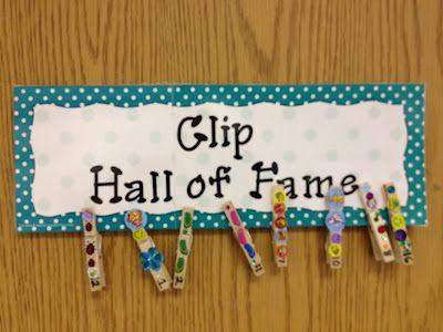 Clip Hall of Fame!  Cute idea! :}