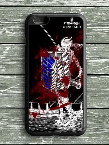 Black White Blood Attack On Titan iPhone 6S Plus Case