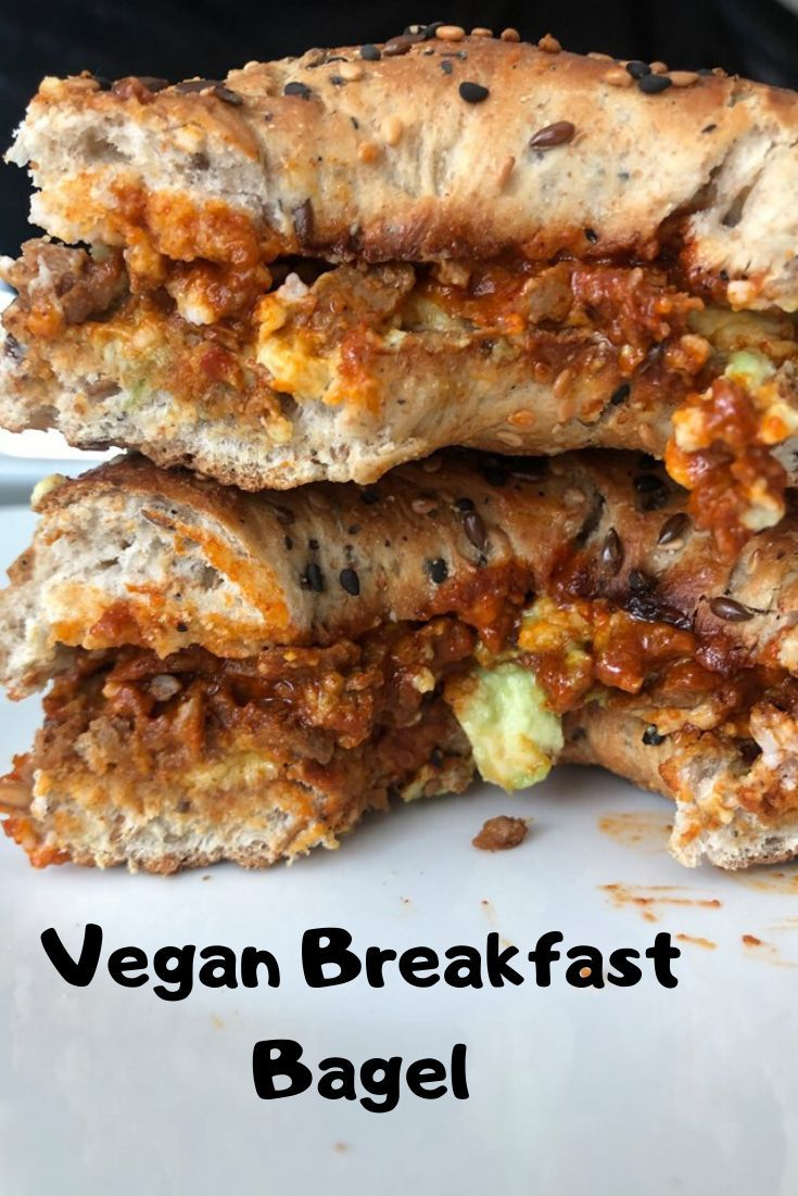 Vegan Breakfast Bagel In 2020 Vegan Breakfast Recipes Vegan Comfort Food Savory Vegan
