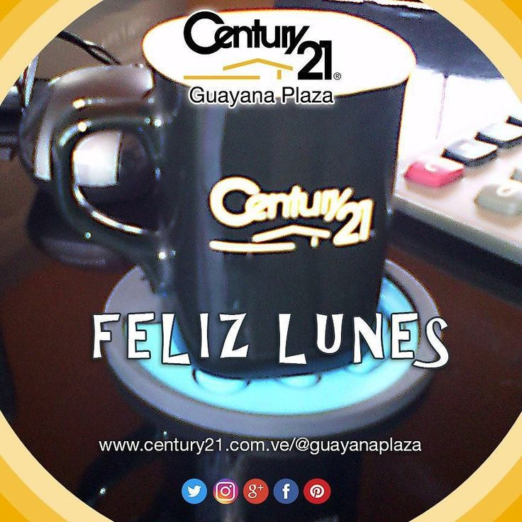 Buenos días! Con una rica taza de café te deseamos un #FelizLunes  #BienesRaíces  #inmuebles  #Guayana #compra  #venta  #alquiler  #oficina  #local  #casa  #apartamento  #terreno  #pzo  #pzocity  #C21  #Venezuela