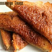 Cinnamon butter  (Recipe is actually for cinnamon toast baked in the oven rather than toasted.)