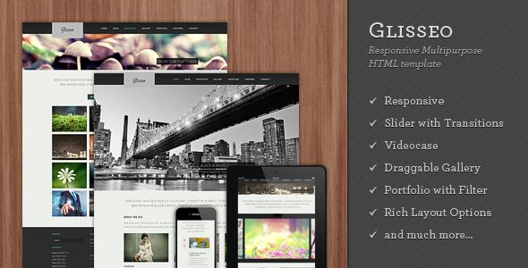 Glisseo - Responsive Multipurpose HTML Template . Wordpress version of Glisseo has been released. Check it out