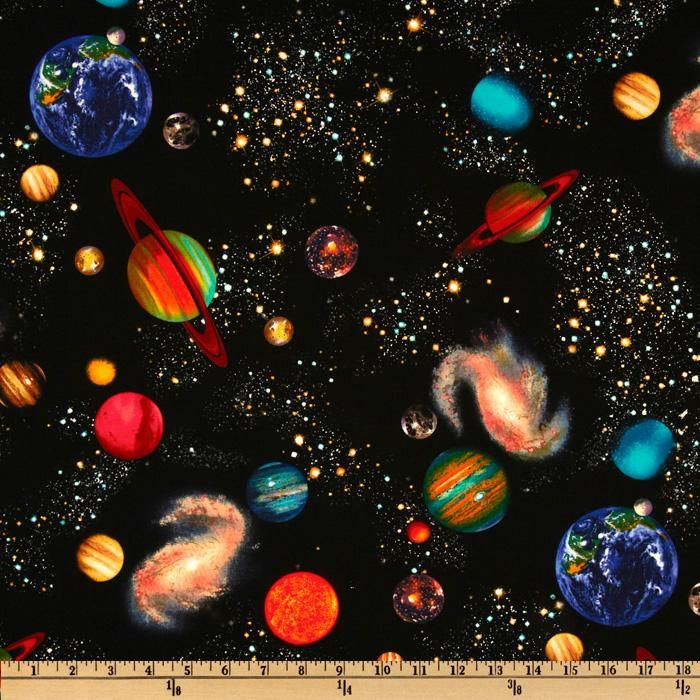 18 best space fabric images on pinterest space fabric for Outer space fabric