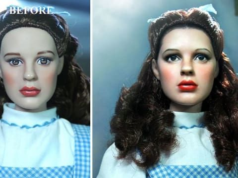 14ab1d29d46 You Won't Believe These 23 Before-and-After Repaints Of Dolls. Filipino  artist Noel Cruz currently works in the USA, repainting dolls that are  mass-produced ...