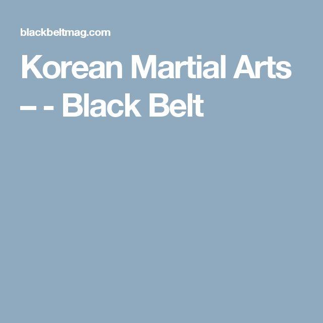 Korean Martial Arts – - Black Belt