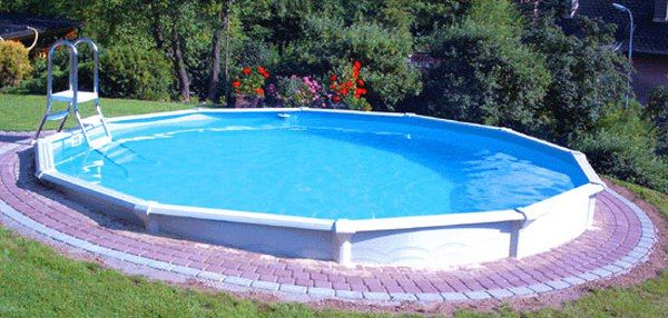 234 best fiberglass swimming pools images on pinterest for Above ground pool decks nj