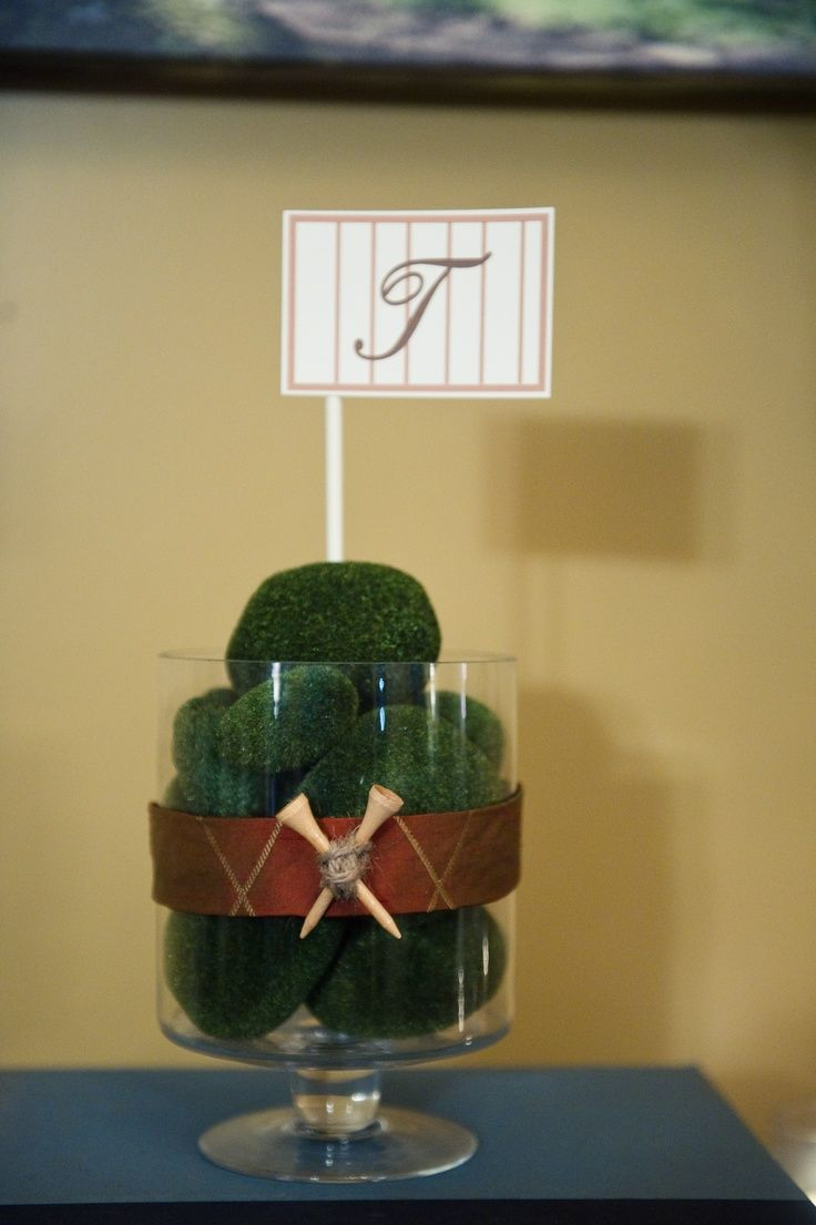 Golf Party Table Decorations Golf Theme Table