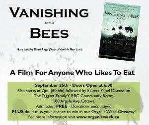 Organic Week film screening! #bees #organicweek