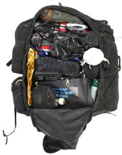 A great interactive bugout bag  - click the parts to find out how they're used and more!