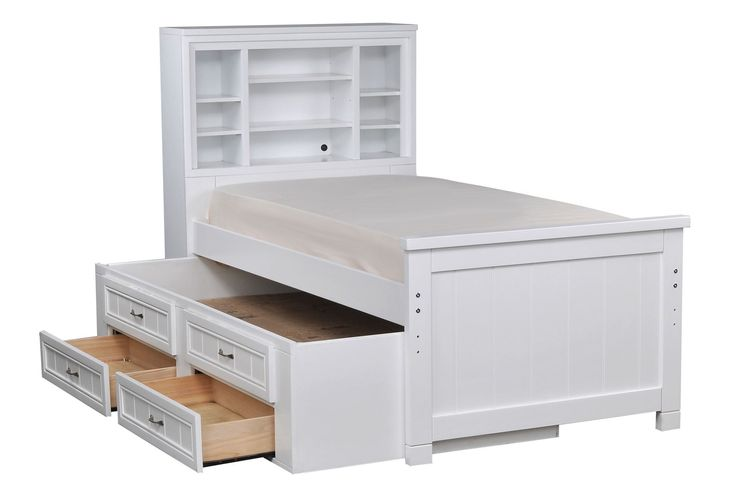 17 best ideas about bookcase bed on pinterest beautiful - White twin captains bed with drawers ...