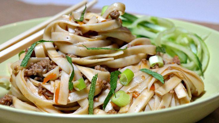 Chinese noedels bolognese/ Макароны с фаршем в китайском стиле