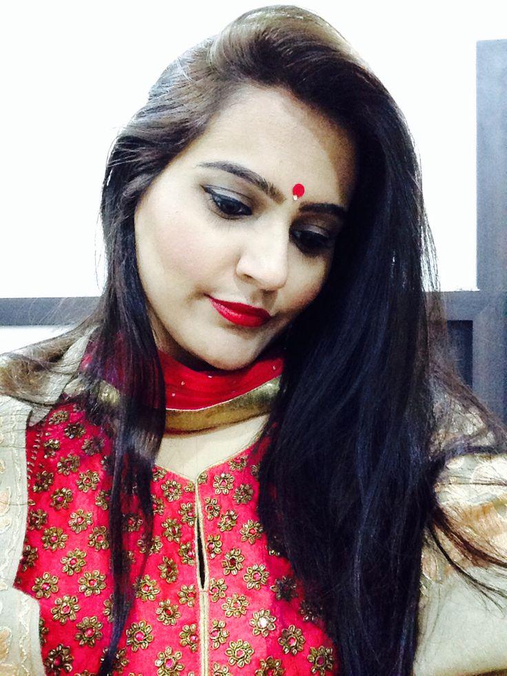 Indian Bindi in red