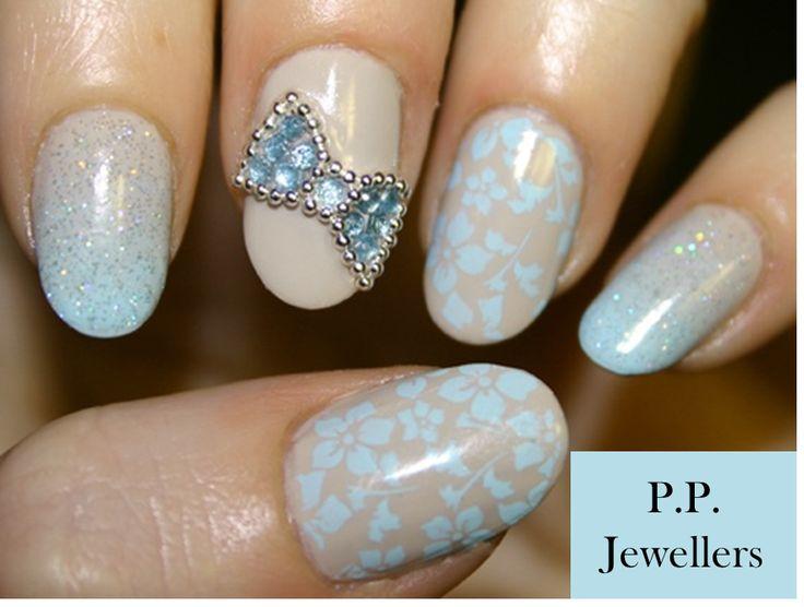 nails with bows and diamonds wwwimgkidcom the image