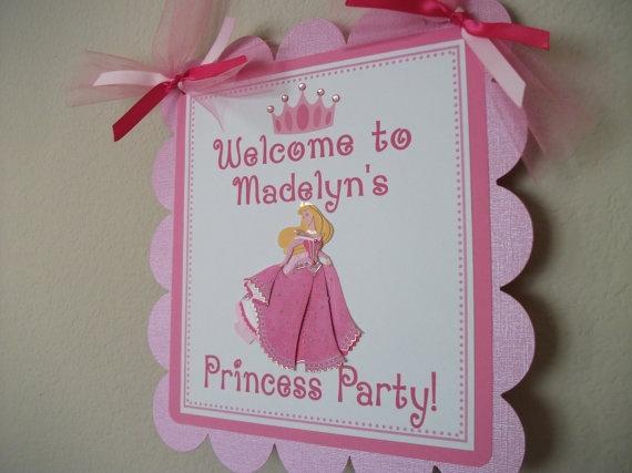 Disney Princess Birthday Party Door Sign by sweetheartpartyshop, $10.00