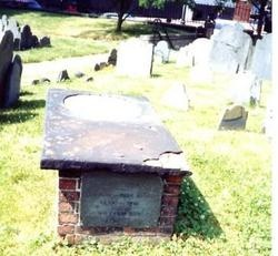 grave of Governor Thomas Dudley, the second governor of Massachusetts.