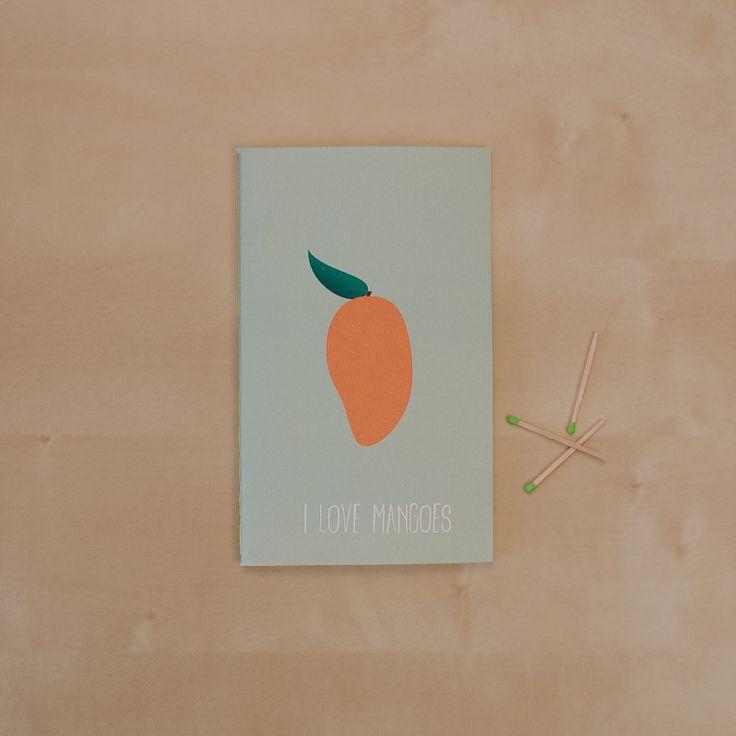 I love mangos _Hand-stitched 40 page blank notebook _Sketchy Notebooks _www.sketchynotebooks.com