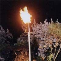 Traditional Copper Hawaiian Tiki Torch- Natural Gas