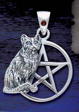 Кошка Пентаграмма $ 67,95  Это красивый пентакль, созданный из стерлингового серебра с кошкой, 3/4 дюйма Диаметр.