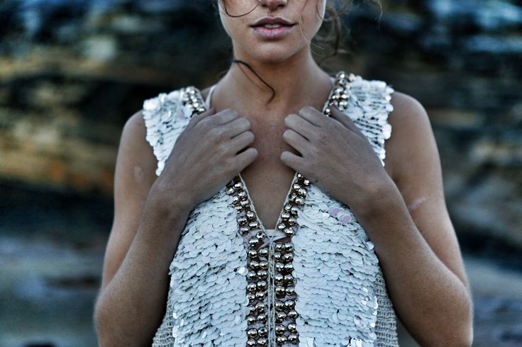 Sequin beadwork. Hand made macrame. Copper beading. Embellished. Beauty. By IXIAH