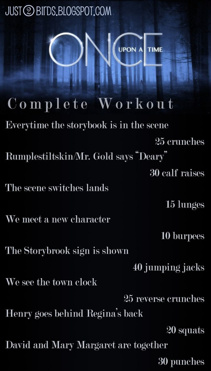 Just 2 Birds - Life of a Football Wife: Once Upon A Time Workout...k.......
