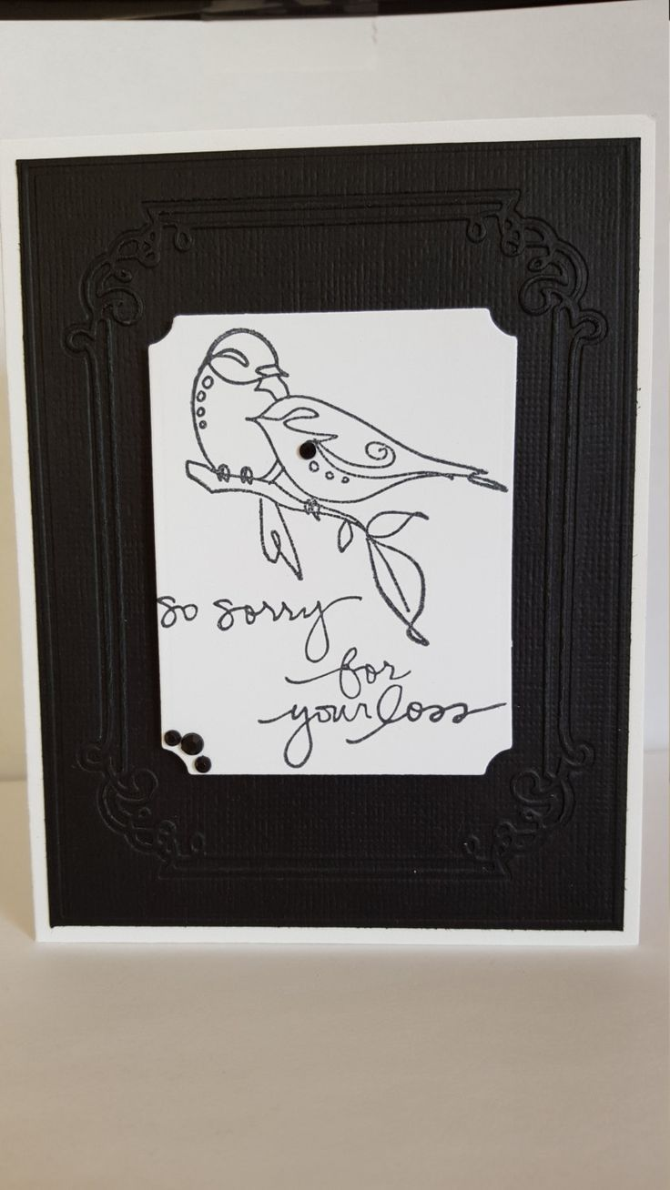 So Sorry for your Loss Handmade Sympathy Card by SimoneSaysCardShop on Etsy