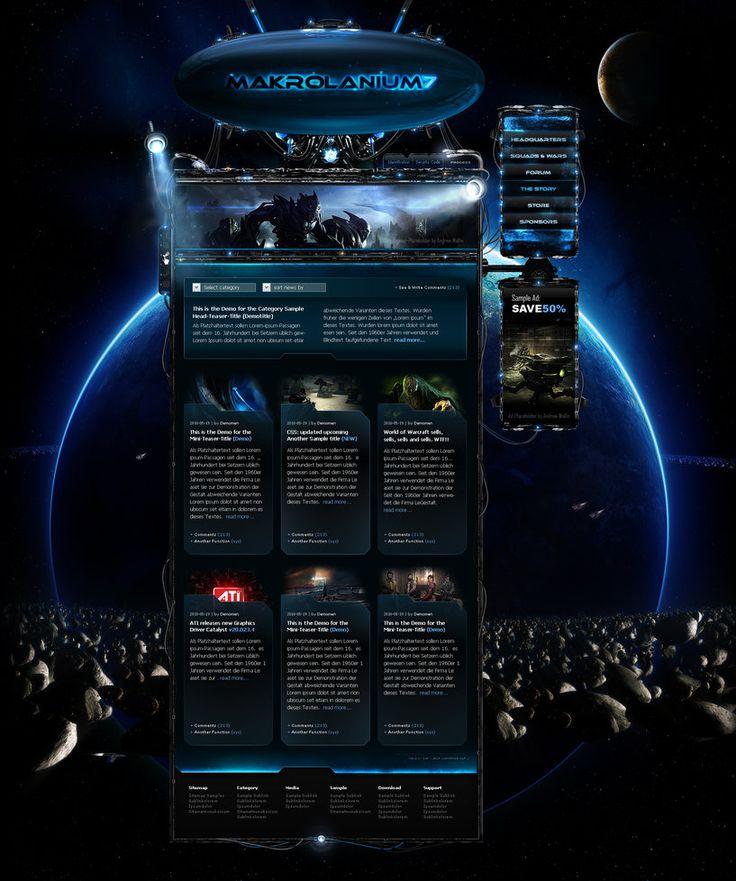 Space Website Makrolanium7 by ~CreatiX86 on deviantART