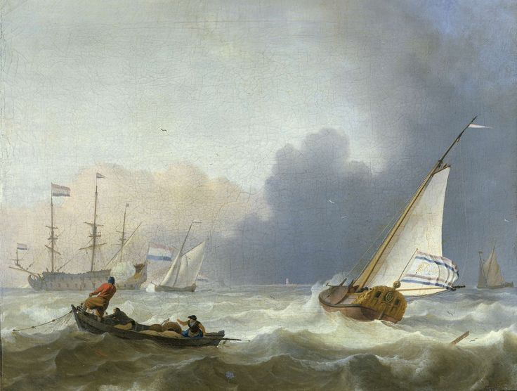 Rough Sea with a Dutch Yacht, Ludolf Bakhuysen, 1694