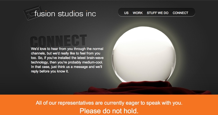 Connect page, Fusion Studios