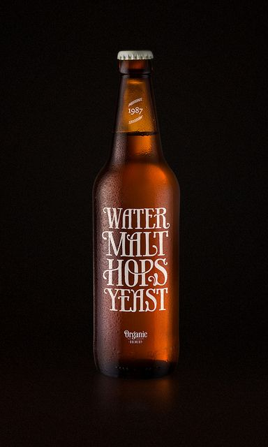 beer packaging typography