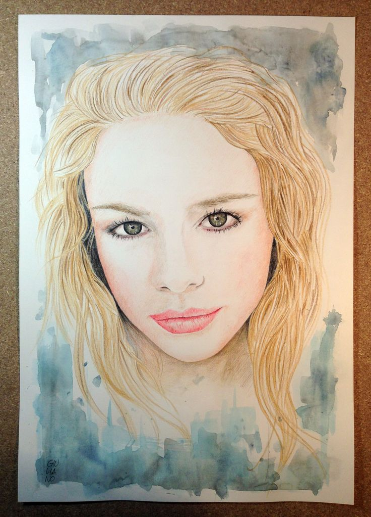 Girl - Derwent pencils and Winsor & Newton watercolour on Fabriano paper 220 g - cm 33x48