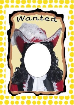 Pirate Wanted Poster Print this on card paper and cut out the face and let children put their faces through. You can also print and laminate it. I've used this Pirate Wanted Poster for my starter activity asking to a child to come out and hold the poster. I've asked the rest of the children to help me describe this wanted man! I've certainly had their interest and we had a lot of lovely sentences filled with adjectives! Enjoy ;)