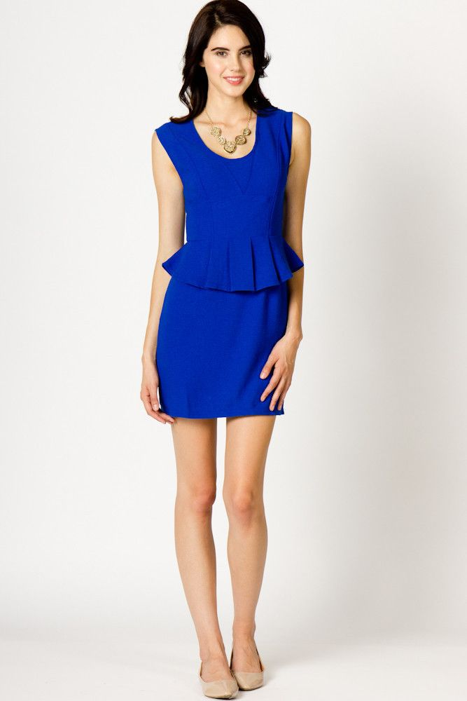 Perfect Peplum Dress - in my color too!